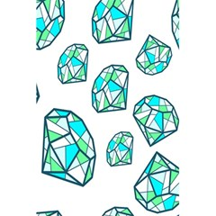Brilliant Diamond Green Blue White 5 5  X 8 5  Notebooks by Mariart