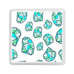 Brilliant Diamond Green Blue White Memory Card Reader (square)  by Mariart