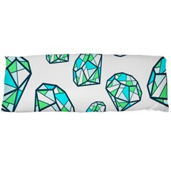 Brilliant Diamond Green Blue White Body Pillow Case Dakimakura (two Sides) by Mariart
