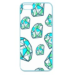 Brilliant Diamond Green Blue White Apple Seamless Iphone 5 Case (color) by Mariart