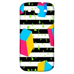 Cube Line Polka Dots Horizontal Triangle Pink Yellow Blue Green Black Flag Samsung Galaxy S3 S Iii Classic Hardshell Back Case by Mariart
