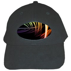 Colorful Abstract Fantasy Modern Green Gold Purple Light Black Line Black Cap by Mariart