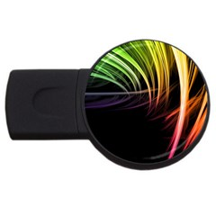 Colorful Abstract Fantasy Modern Green Gold Purple Light Black Line Usb Flash Drive Round (2 Gb) by Mariart