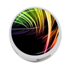 Colorful Abstract Fantasy Modern Green Gold Purple Light Black Line 4 Port Usb Hub (one Side) by Mariart