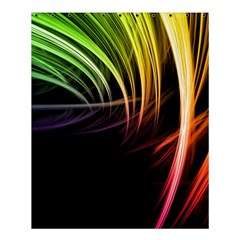 Colorful Abstract Fantasy Modern Green Gold Purple Light Black Line Shower Curtain 60  X 72  (medium)  by Mariart