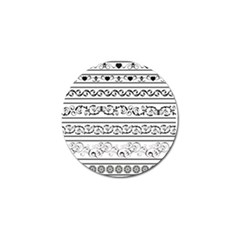 Black White Decorative Ornaments Golf Ball Marker (4 Pack) by Mariart