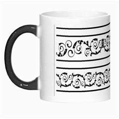 Black White Decorative Ornaments Morph Mugs by Mariart