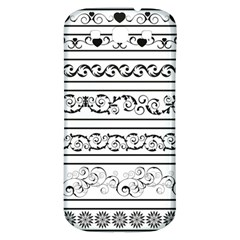 Black White Decorative Ornaments Samsung Galaxy S3 S Iii Classic Hardshell Back Case by Mariart