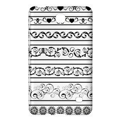 Black White Decorative Ornaments Samsung Galaxy Tab 4 (8 ) Hardshell Case  by Mariart