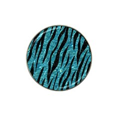 Skin3 Black Marble & Blue Green Water (r) Hat Clip Ball Marker (10 Pack) by trendistuff