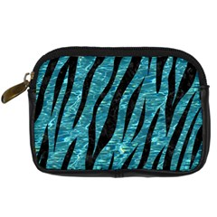 Skin3 Black Marble & Blue Green Water (r) Digital Camera Leather Case by trendistuff