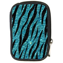 Skin3 Black Marble & Blue Green Water (r) Compact Camera Leather Case by trendistuff