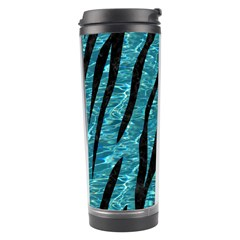 Skin3 Black Marble & Blue Green Water (r) Travel Tumbler