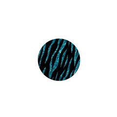 Skin3 Black Marble & Blue Green Water 1  Mini Button by trendistuff