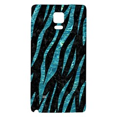 Skin3 Black Marble & Blue Green Water Samsung Note 4 Hardshell Back Case by trendistuff