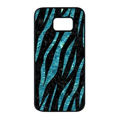 Skin3 Black Marble & Blue Green Water Samsung Galaxy S7 Edge Black Seamless Case by trendistuff