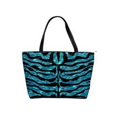 Skin2 Black Marble & Blue Green Water (r) Classic Shoulder Handbag by trendistuff