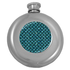 Scales3 Black Marble & Blue Green Water (r) Hip Flask (5 Oz) by trendistuff