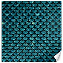 Scales3 Black Marble & Blue Green Water (r) Canvas 12  X 12  by trendistuff