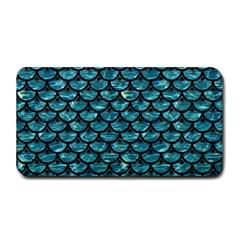 Scales3 Black Marble & Blue Green Water (r) Medium Bar Mat by trendistuff