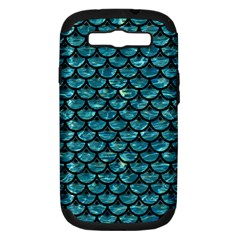 Scales3 Black Marble & Blue Green Water (r) Samsung Galaxy S Iii Hardshell Case (pc+silicone) by trendistuff