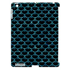 Scales3 Black Marble & Blue Green Water Apple Ipad 3/4 Hardshell Case (compatible With Smart Cover) by trendistuff