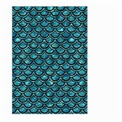 Scales2 Black Marble & Blue Green Water (r) Large Garden Flag (two Sides) by trendistuff