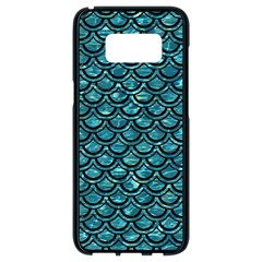 Scales2 Black Marble & Blue Green Water (r) Samsung Galaxy S8 Black Seamless Case by trendistuff
