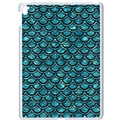 Scales2 Black Marble & Blue Green Water (r) Apple Ipad Pro 9 7   White Seamless Case by trendistuff