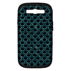 Scales2 Black Marble & Blue Green Water Samsung Galaxy S Iii Hardshell Case (pc+silicone) by trendistuff