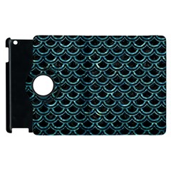 Scales2 Black Marble & Blue Green Water Apple Ipad 2 Flip 360 Case by trendistuff