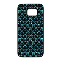Scales2 Black Marble & Blue Green Water Samsung Galaxy S7 Edge Black Seamless Case