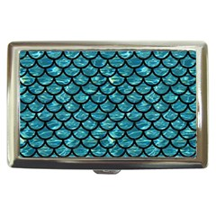Scales1 Black Marble & Blue Green Water (r) Cigarette Money Case by trendistuff