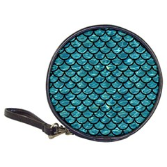 Scales1 Black Marble & Blue Green Water (r) Classic 20 Cd Wallet by trendistuff