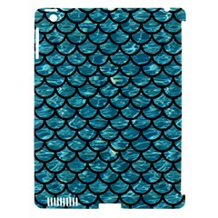 Scales1 Black Marble & Blue Green Water (r) Apple Ipad 3/4 Hardshell Case (compatible With Smart Cover) by trendistuff