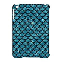 Scales1 Black Marble & Blue Green Water (r) Apple Ipad Mini Hardshell Case (compatible With Smart Cover) by trendistuff