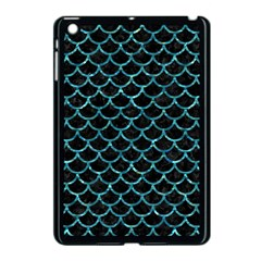 Scales1 Black Marble & Blue Green Water Apple Ipad Mini Case (black) by trendistuff