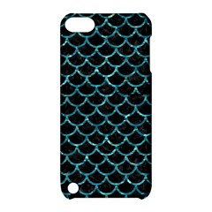 Scales1 Black Marble & Blue Green Water Apple Ipod Touch 5 Hardshell Case With Stand by trendistuff