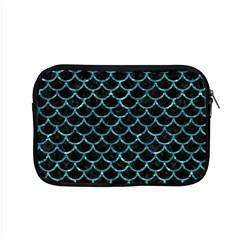 Scales1 Black Marble & Blue Green Water Apple Macbook Pro 15  Zipper Case by trendistuff