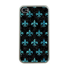 Royal1 Black Marble & Blue Green Water (r) Apple Iphone 4 Case (clear) by trendistuff