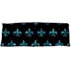 Royal1 Black Marble & Blue Green Water (r) Body Pillow Case Dakimakura (two Sides) by trendistuff