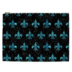 Royal1 Black Marble & Blue Green Water (r) Cosmetic Bag (xxl) by trendistuff
