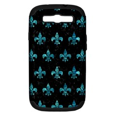 Royal1 Black Marble & Blue Green Water (r) Samsung Galaxy S Iii Hardshell Case (pc+silicone) by trendistuff