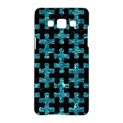 Puzzle1 Black Marble & Blue Green Water Samsung Galaxy A5 Hardshell Case  by trendistuff