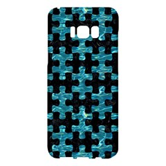 Puzzle1 Black Marble & Blue Green Water Samsung Galaxy S8 Plus Hardshell Case