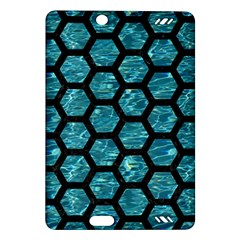 Hexagon2 Black Marble & Blue Green Water (r) Amazon Kindle Fire Hd (2013) Hardshell Case by trendistuff