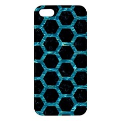 Hexagon2 Black Marble & Blue Green Water Iphone 5s/ Se Premium Hardshell Case by trendistuff