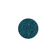 Hexagon1 Black Marble & Blue Green Water (r) 1  Mini Button by trendistuff