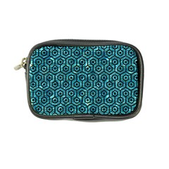 Hexagon1 Black Marble & Blue Green Water (r) Coin Purse by trendistuff