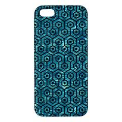 Hexagon1 Black Marble & Blue Green Water (r) Apple Iphone 5 Premium Hardshell Case by trendistuff